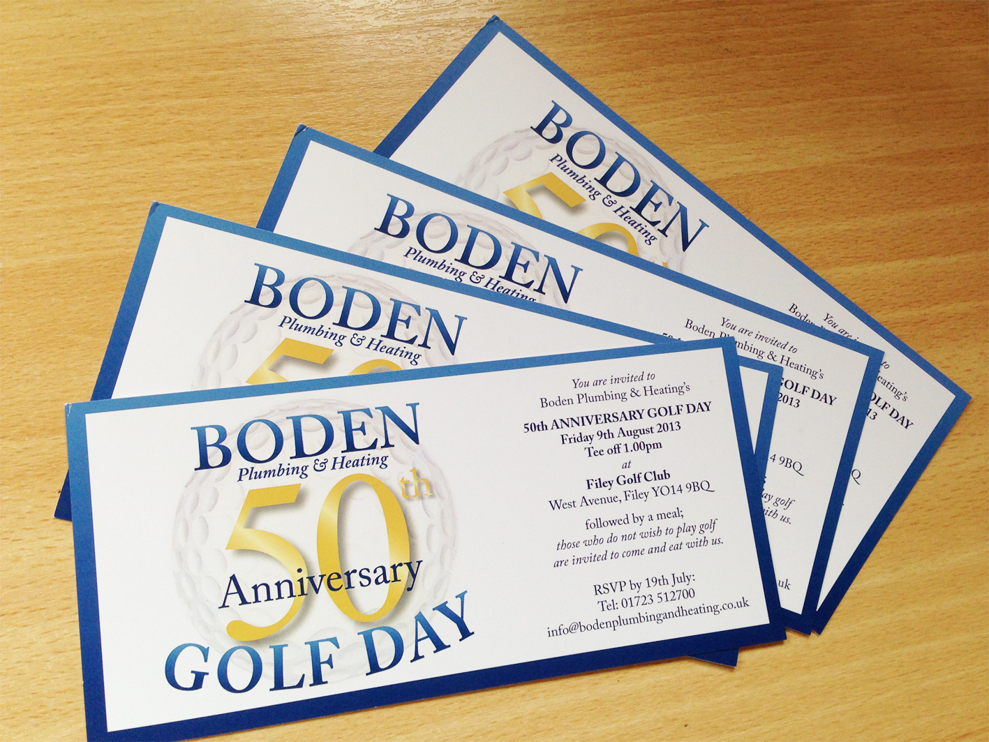 Golf Day Corporate Invitations designed by The Smart Station