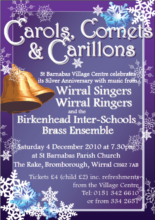 Wirral Singers Christmas poster designed by Gaynor Carr at The Smart Station
