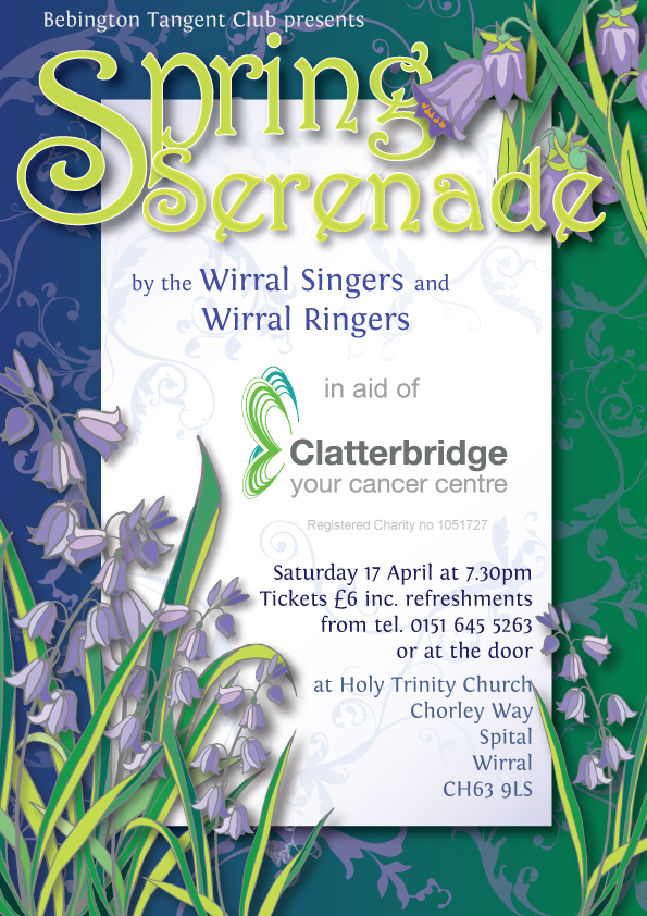 Wirral Singers Spring Serenade Poster designed by Gaynor Carr at The Smart Station